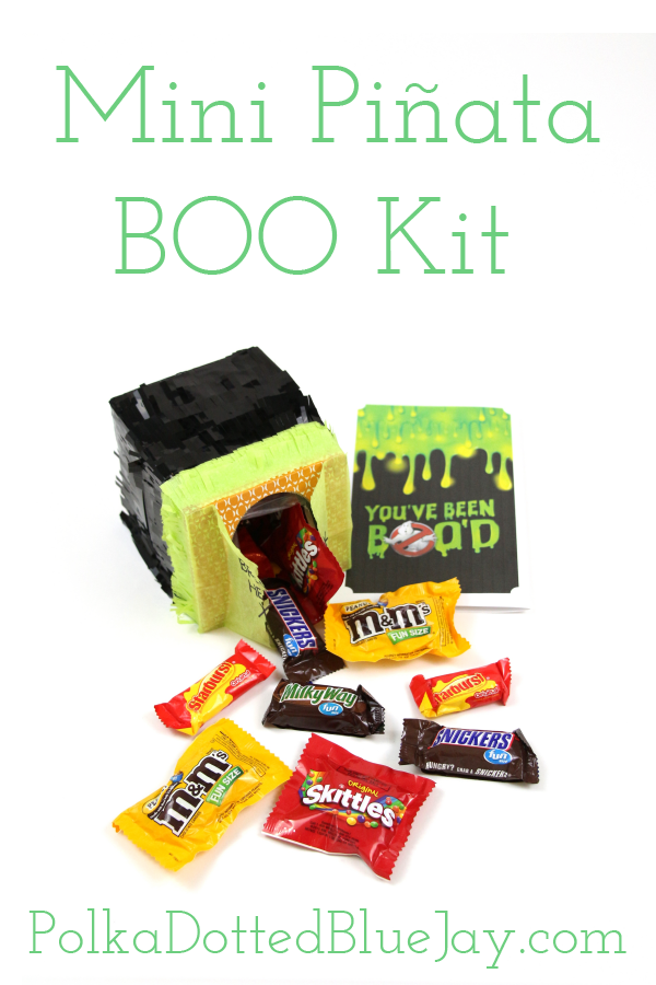 This DIY Mini Pinata is the perfect BOO kit project to make for Halloween! Upcycle a tissue box into a fun BOO kit filled with candy and #BOOItForward #ad #CollectiveBias