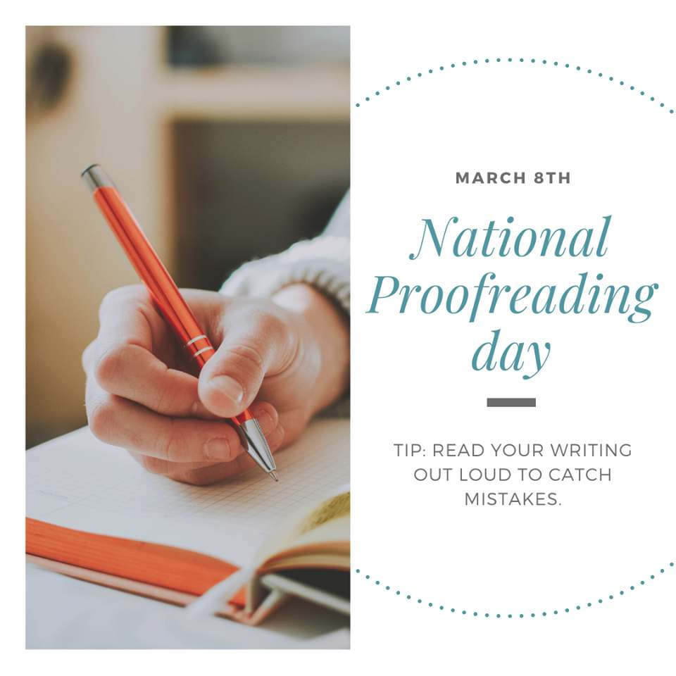 National Proofreading Day Wishes For Facebook
