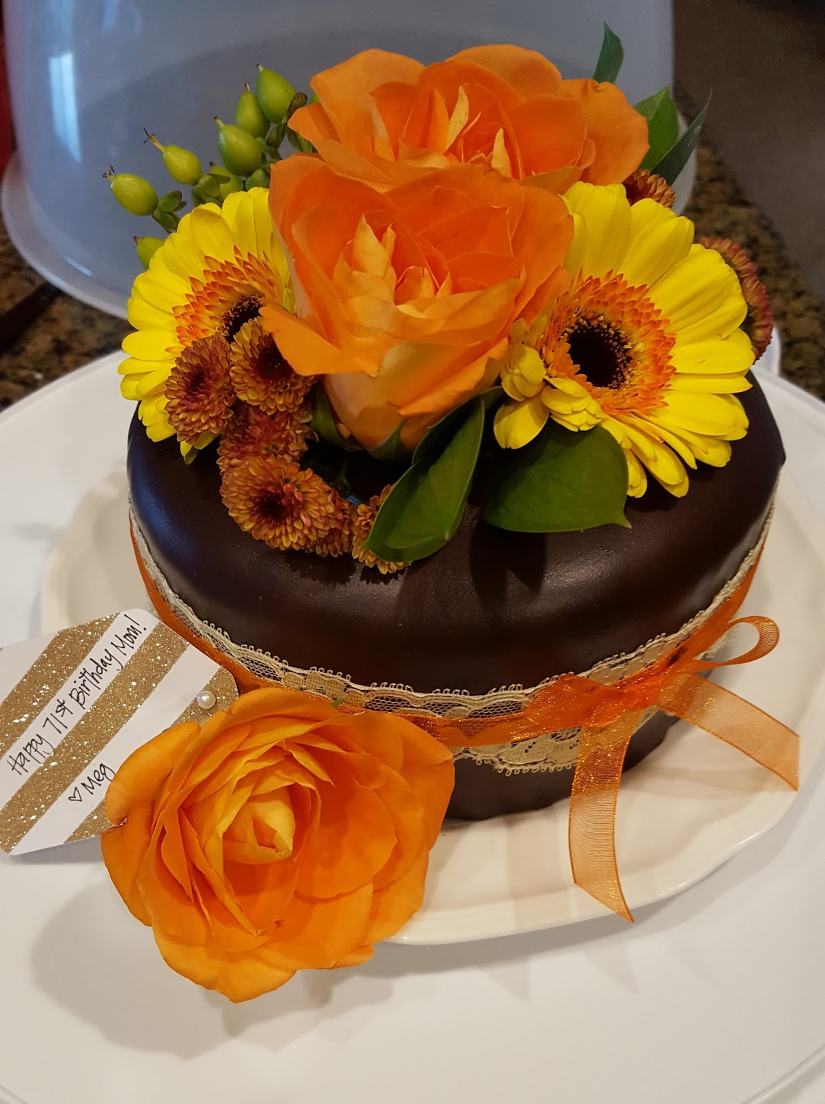 Simply projects november ganache floral cake november ganache birthday cake for my lovely mother she deserves the best i love to put my two favorite things together flowers and cake izmirmasajfo