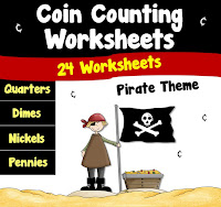 Coin Counting Worksheets Pirate Theme