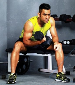 MS Dhoni Wrist Curl Exercise