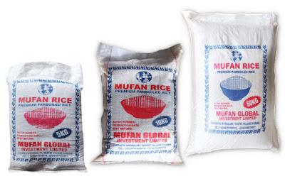 Mufan Premium Parboiled Rice 50kg, 10kg And 5kg Bags