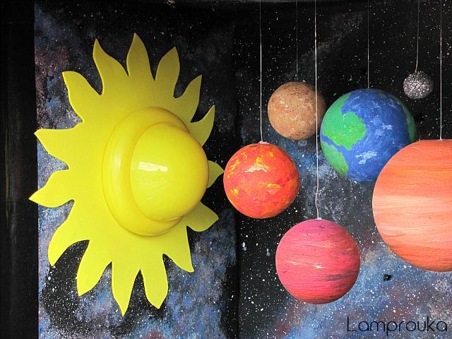 Πως να φτιάξεις τους πλανήτες-κατασκευή μέσα σε κούτα.