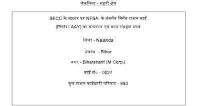 Bihar Sharif Ration Card Details Ward Wise- Download Updated PDF Ration Card 2020 (BPL List)