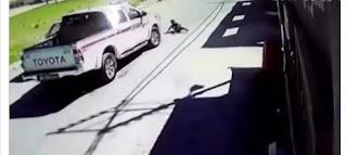 شاهد بالفيديو لحظة دهس طفلة في الاردن