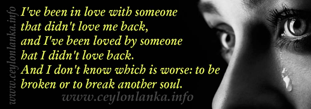 I've been in love with someone that didn't love me back