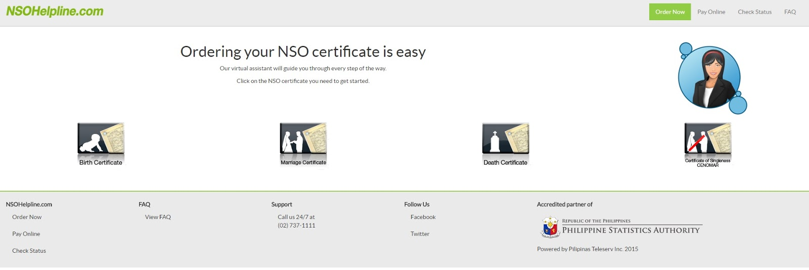 Gohopping nso birth certificate step2 pay online aiddatafo Images