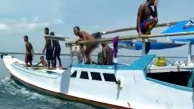 VIDEO: Dikepung Warga, Pelaku Bom Ikan Di Labotto Bone Berhasil Kabur