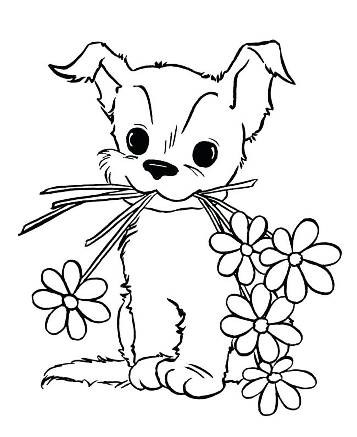 Dogs coloring pages 74