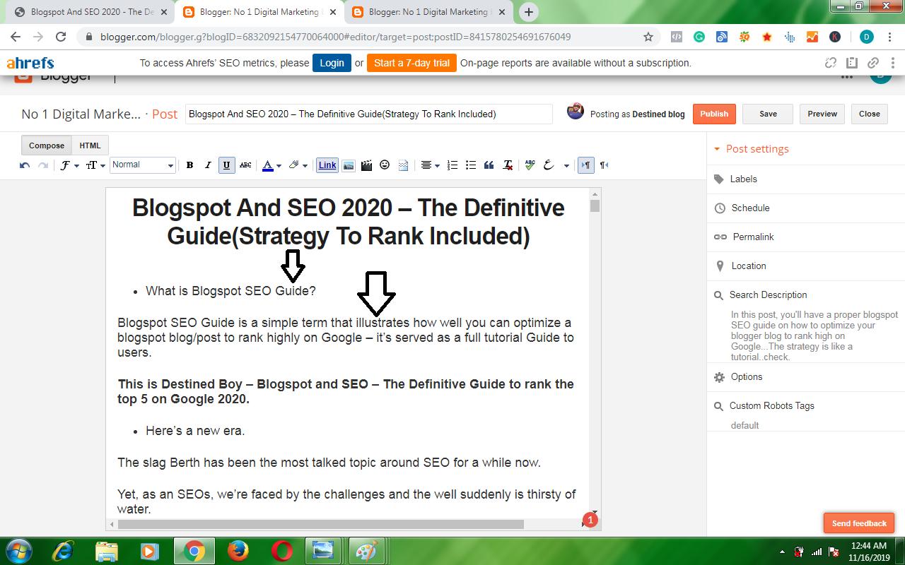 blogger seo guide
