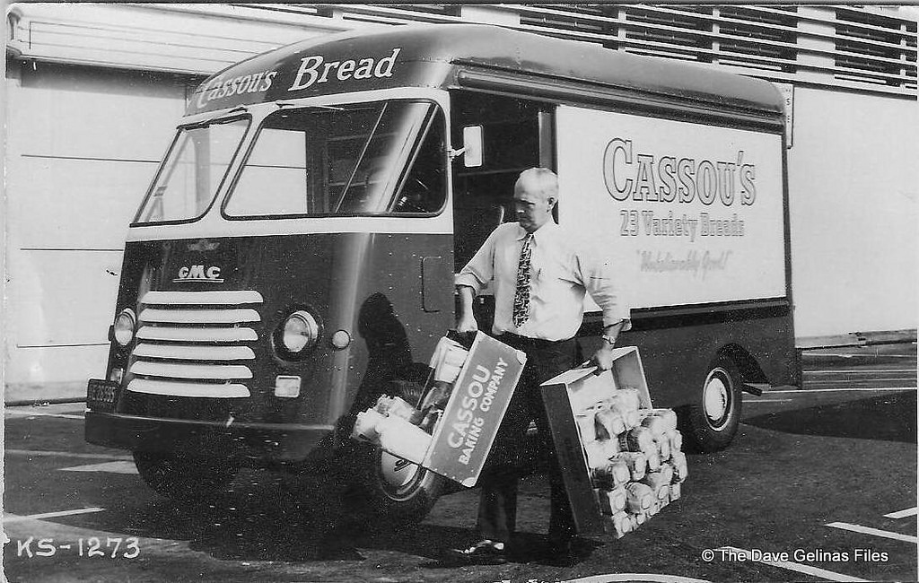 Cassous Bread Truck Ca 1950s