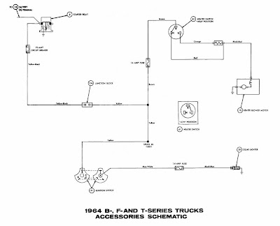 accessory wiring diagram ford b   f   t series trucks 1964    accessories       wiring     ford b   f   t series trucks 1964    accessories       wiring