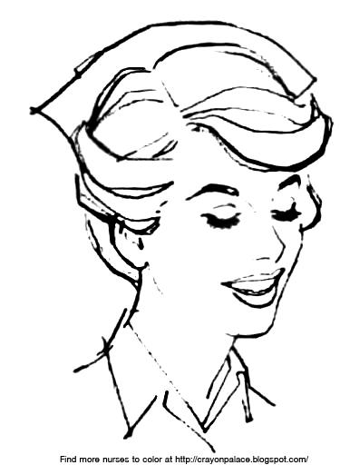 Nurse cap coloring pages ~ Nurse Cap Coloring Page S Coloring Pages