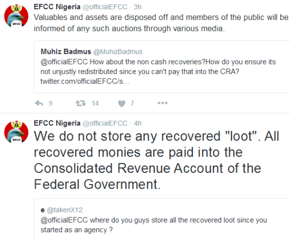'What we do with recovered loots' - EFCC