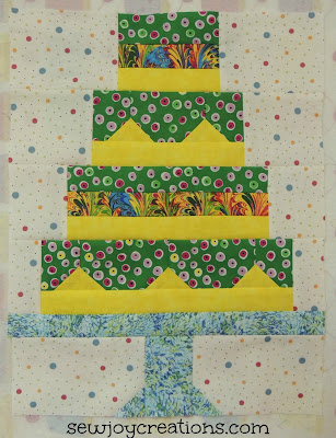 pieced cake quilt block snapshots sew along