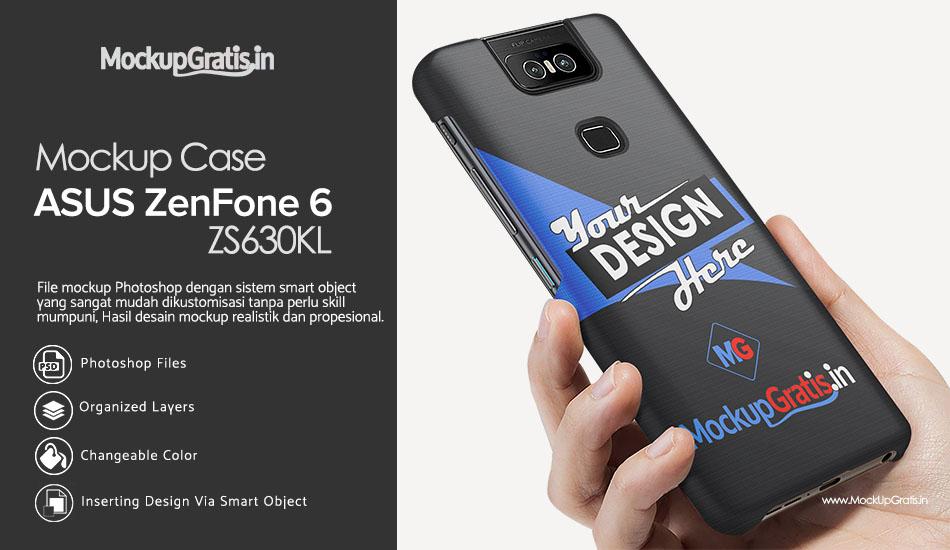 Mockup Case ASUS Zenfone 6 Gratis PSD File