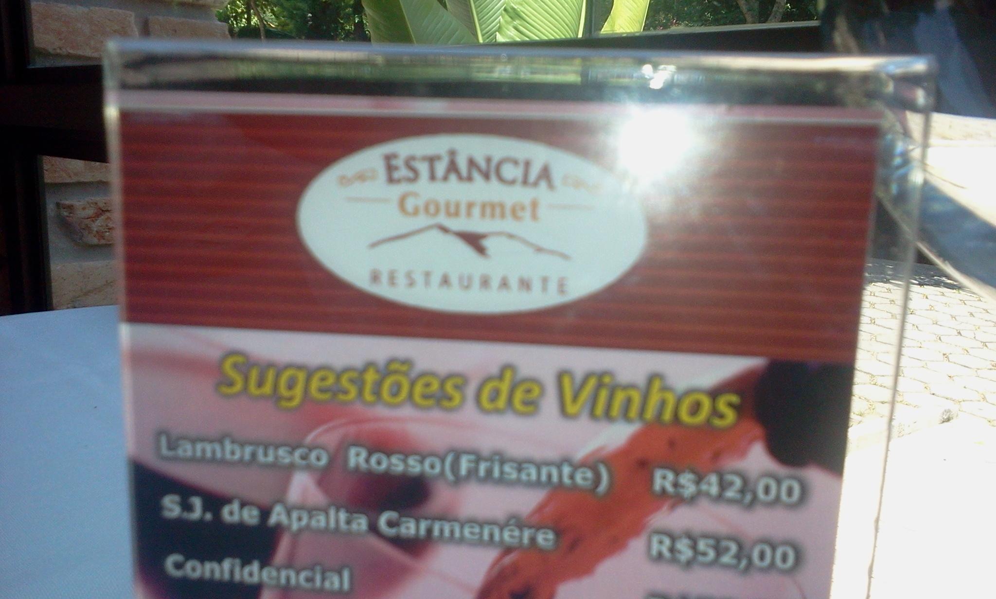 Restaurante Estância Gourmet no Alto do Caparaó