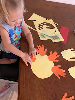 Parent/Child Hand Print Sun Craft