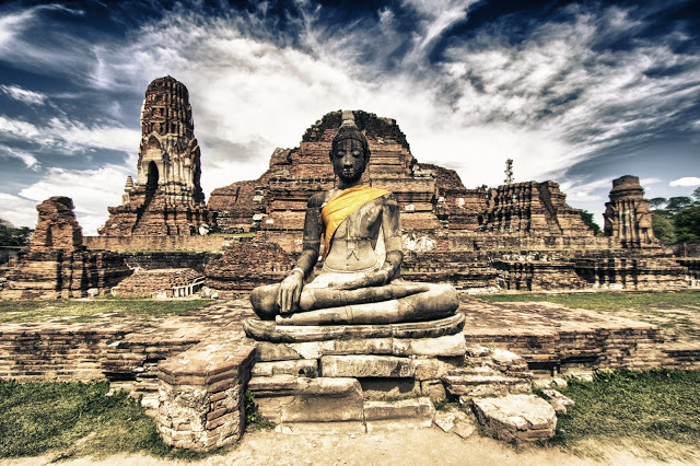 Statua del Buddha-Rovine di Ayutthaya