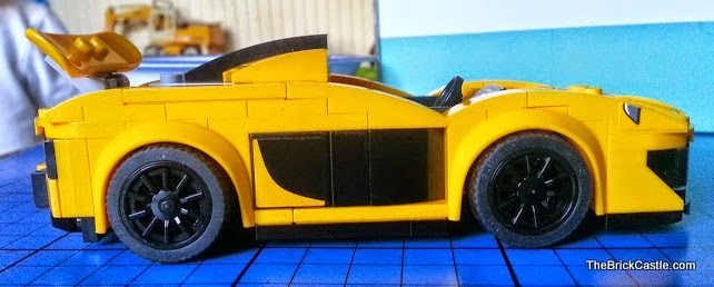 LEGO hybrid supercar McLaren P1 side view of door and stickers