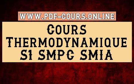 Cours SMPC/SMIA S1 Thermodynamique 1