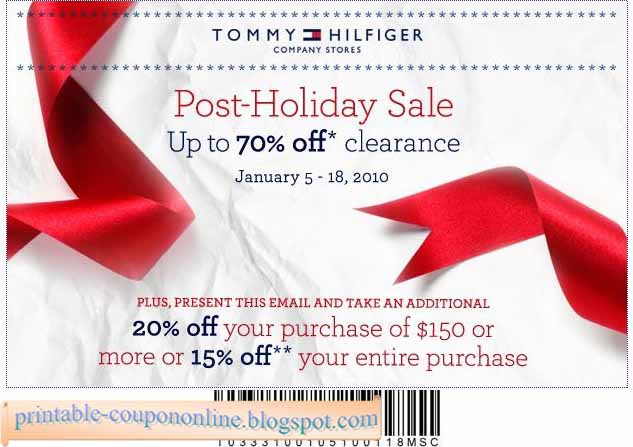 photo relating to Tommy Hilfiger Printable Coupon named Printable Coupon codes 2019: Tommy Hilfiger Discount coupons