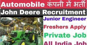 Diploma Freshers Job Campus Recruitment Drive for John Deere India Pvt Ltd  Apply Online