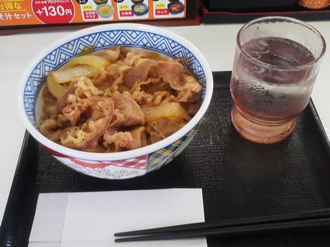 牛丼(並盛)¥380-2 吉野家258号線大垣店
