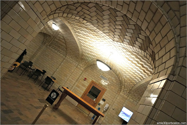 Bóvedas Tabicadas en el Sótano de la Biblioteca Widener, Universidad de Harvard