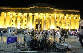 в гуще тбилисских протестов