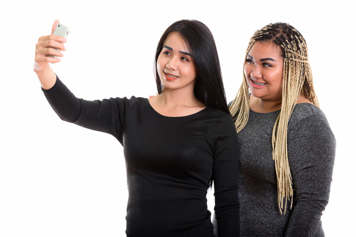 transgender asian woman with asian woman