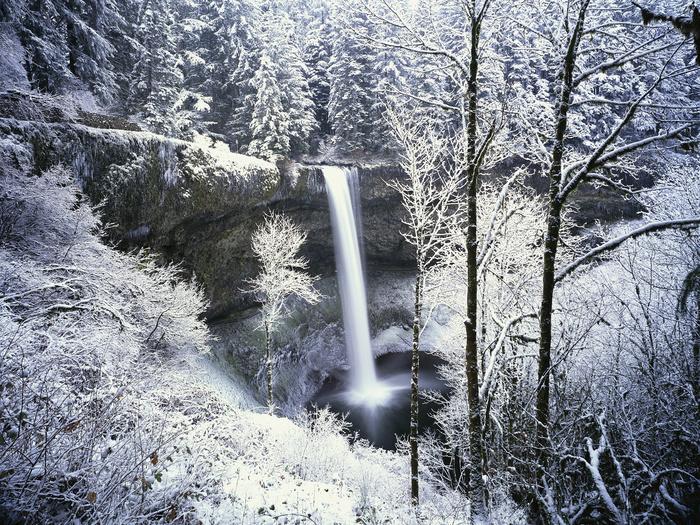 Free Multnoma Falls Winter Wallpaper Twilighters Dream Oregon In Winter