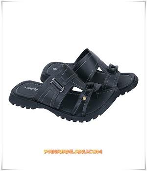 Sandal Casual Pria Warna Hitam