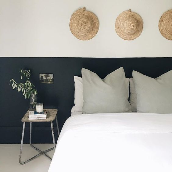 Et si on se faisait une t te de lit originale - Tete de lit en peinture ...