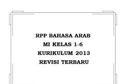 RPP Bahasa Arab MI K13 Kelas 1-6