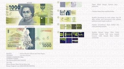 Uang rupiah baru pecahan Rp 1.000 kertas