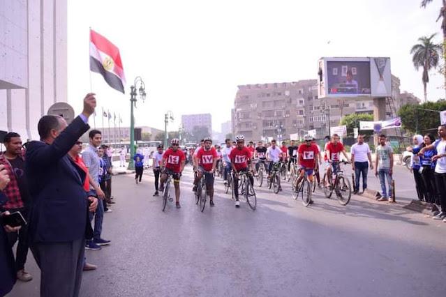 محافظة أسيوط تشارك في الماراثون القومي للدراجات بمناسبة احتفالات أكتوبر