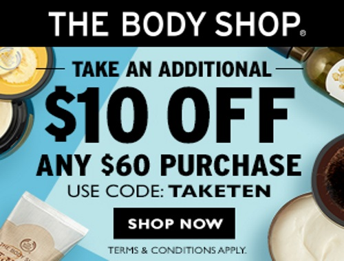The Body Shop 25% Off Sitewide + $10 Off Promo Code