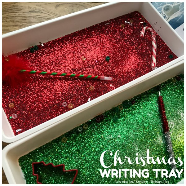 Christmas Mark Making Glitter Tray