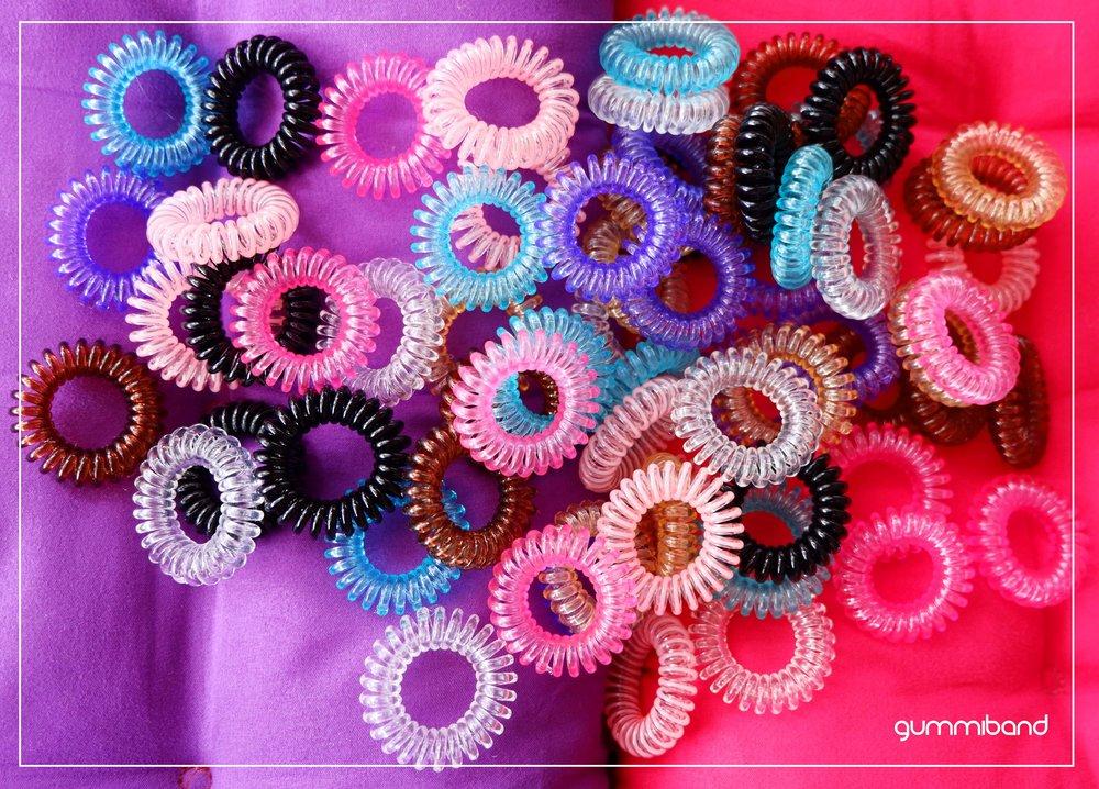 gummiband hair coil