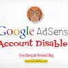 Google AdSense Account Disabled