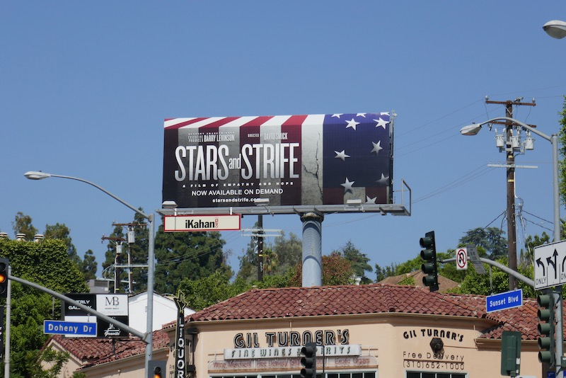 Stars and Strife film billboard