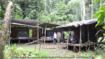 Tourist basecamp in Susnguakti forest of Manokwari