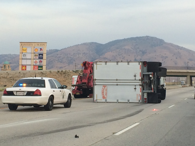 Fresno Visalia Bakersfield Accidents: Rollover Big Rig Accident on
