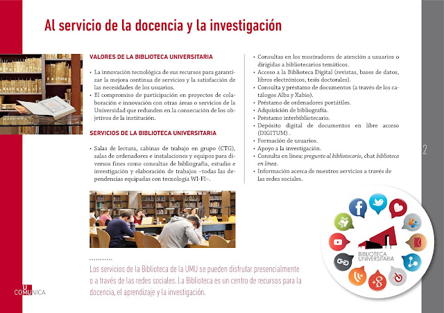 La Bibliioteca Universitaria en UMU-Comunica.