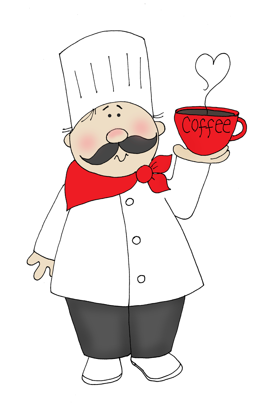 free dearie dolls digi stamps  coffee chef