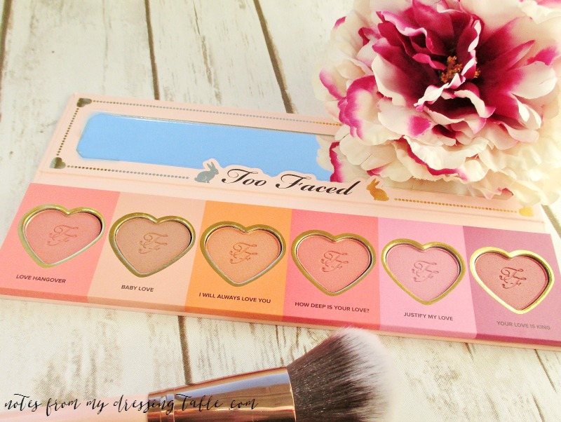#allofthecolours Too Faced Love Flush Blush Wardrobe | My Notes and Swatches Product Details notesfrommydressingtable.com