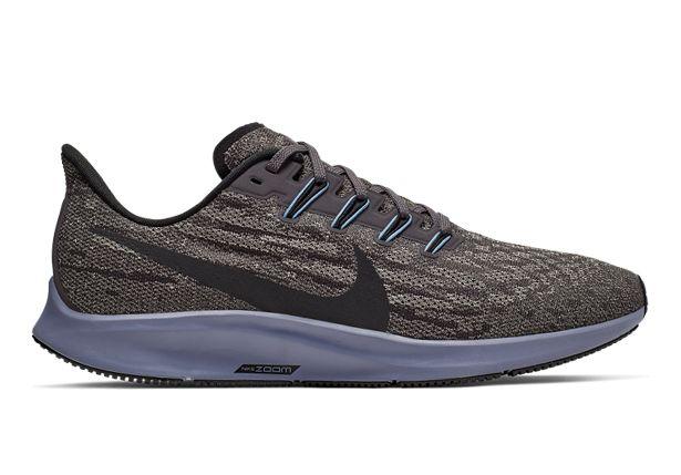 Nike Men's Air Zoom Pegasus 36 Running Shoes - Thunder Grey Black Pumice Stellar Indigo