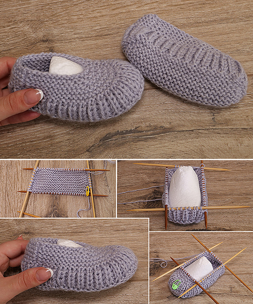 Children's Slippers - Free Knitting Pattern + Video