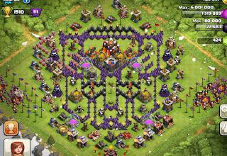 Base Coc Th 8 Bentuk Bintang 10
